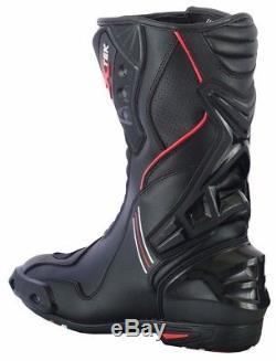 Noir Moto Combinaison De Moto Veste Imperméable Pantalon Biker Cuir Botte Nouveau