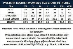 Noora Femmes Mode Coat Cow Lady Suede Cuir Veste Western Fringes Bs-106