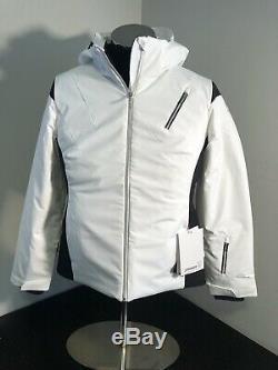 Nouveau 325 $ Femmes Sz 12 Spyder Prevail Veste De Ski Thinsulate -blanc Noir 144218