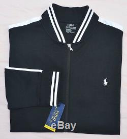 Nouveau 3xb 3xl Big 3x Polo Ralph Lauren Veste De Survêtement De Baseball Pour Homme Noir Entièrement Zippé