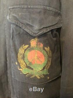 Nouveau 500 $ Polo Ralph Lauren Hippy Veste Peace Army Sweat À Capuche Bleu XXL 2x