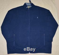 Nouveau 5xb 5xl Big 5x Polo Ralph Lauren Veste De Survêtement En Coton Cardigan Bleu Marine