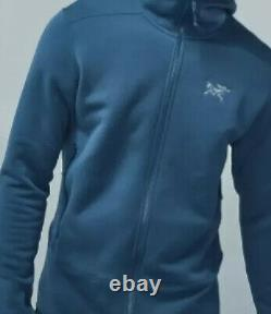 Nouveau! Arcteryx Men Kyanite Fleece Hoody Hoodie Jacket2xl / Xxlfull-zipblue