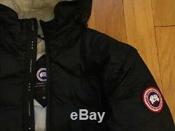 Nouveau Authentic Canada Goose Camp Taille À Capuche Noire Des Femmes M