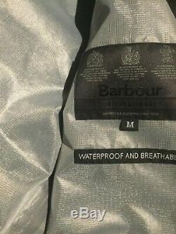 Nouveau Barbour Mens Internationale Acoustique Veste Imperméable / Respirante Noir £ 199