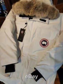 Nouveau Canada Goose Parka Couleur Blanc Expedition Taille 2xl-3xl Authentic100%