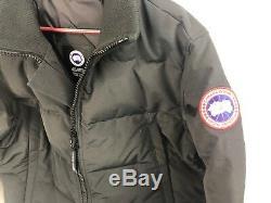 Nouveau Canada Goose Wolford Veste Hommes Noir Moyen M Hologramme Authentique