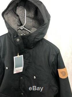 Nouveau Fjallraven Groenland Veste D'hiver Noir Hommes S M L XL Doublé Sherpa Isolé