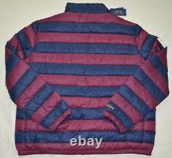 Nouveau Manteau De Veste 2xlt Polo Ralph Lauren Mens 2xl Tall Puffer Bleu Bordeaux
