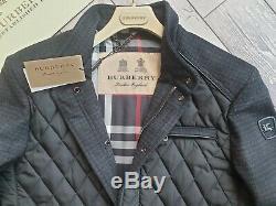 Nouveau Manteau Homme Veste Quiltée Black Diamond En Laine Sandringham Wool Burberry