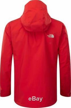 Nouveau Mens The North Face Point Cinq Manteau Goretex Uk Taille XL Red Premium Coat