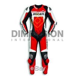 Nouveau Moto / Moto Ducati Corse C4 Racing Motogp En Cuir De Vache Costume En Cuir