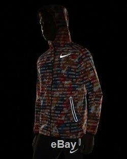 Nouveau Nike Shield Fantôme Flash Repel Veste De Running Taille Moyenne