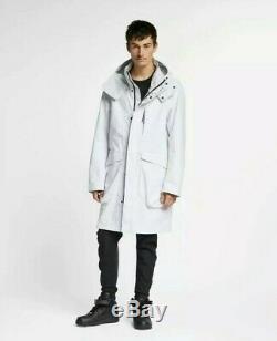 Nouveau Nike Sportswear Tech Pack Parka Blanc Tissé Jacket Sz 250 $ Grand