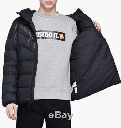 Nouveau Nike Sportswear Vers Le Bas Rempli Veste Noir Blanc Taille Homme Petit 928833-010