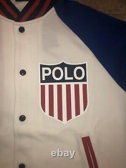Nouveau Polo Ralph Lauren Veste Varsity USA Jeux Olympiques Chariots De Feu Logo Hommes L