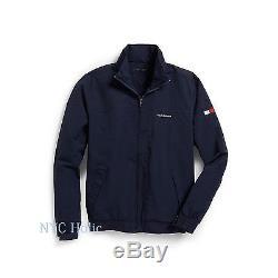 Nouveau Tommy Hilfiger Mens Yacht Jacket Coupe-vent Bleu Marine Toutes Tailles Résistant À L'eau