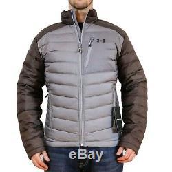Nouveau Under Armour Iso Down Jacket Gris Acier / Charbon Hommes S-m-l-2xl-3xl Puffer