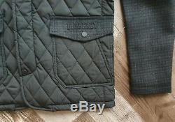 Nouveaux Burberry Sandringham Homme En Laine Et Cachemire Black Diamond Veste Matelassée Manteau L