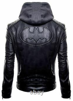 Nouvelle Ligue De Justice Batman Logo Dark Knight Gotham Outlaw Veste À Capuche Noire
