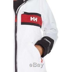Nouvelle Tno Helly Hansen Veste Salt Femme Rouge Blanc Gris À Capuche Sz Petit S