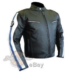 Nouvelle Veste De Moto Bmw 3874 Moto Biker Veste En Cuir D'origine Blindée