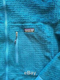 Nwot! Patagonia R3 À Capuche Homme Veste XXL 2xl Bleu Polaire Nouveau