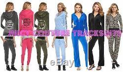 Nwt Juicy Couture Survêtement Velours Veste Ornée Pantalons Ensembles Xs S M L XL 2xl