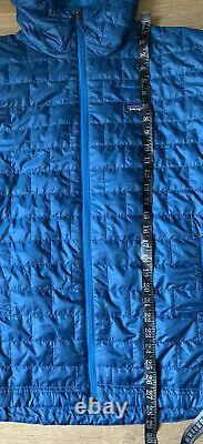 Nwt Patagonia Mens Nano Puff Hoody Zip Jacket Big Big Sur Blue 249 $
