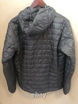 Nwt Patagonia Mens Nano Puff Hoody Zip Jacket Medium Forge Grey 249 $ 84222