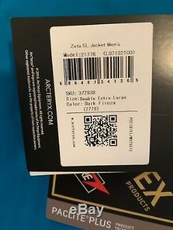 Nwts Arcteryx Mens Zeta Sl Gore-tex Jacket. Xxl. Sombre Firoza (détail De 299 $)