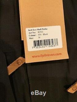 Nwts Fjallraven Mens Keb Eco-shell Parka (# 82501) Moyenne. Noir (détail De 600 $)