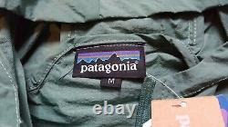 Patagonia Houdini Zip Up Forest Green Jacket Medium Bnwt