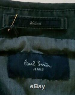 Paul Smith Flack Manteau Taille M (42) Gris Vert Coton Nouve Mots Clés Rrp £ 180
