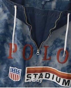 Polo Ralph Lauren Indigo Stadium Popover Jacket Taille XL
