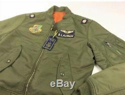Polo Ralph Lauren Ma-1 Militaire De L'armée Américaine Air Force Flight Jacket Pilote De Bombardier L