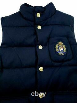 Polo Ralph Lauren Mens Preppy Bullion Crest Vestes En Laine Brodées