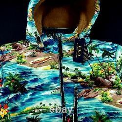 Polo Ralph Packable Down Puffer Hooded Jacket Lauren Hawaiian Tropical 398 $ XL