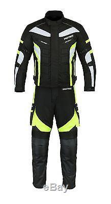 Profirst Homme Moto Combinaison Complète Veste & Pantalon Pilotes Blindés Ce