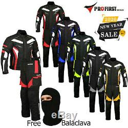 Proviz Hommes Ce Armure D'hiver Moto Moto Textile Veste Costume Pantalon