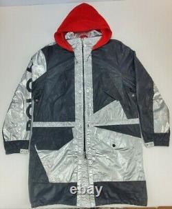 Ralph Lauren Polo Homme M Marsh Silver Metallic Stadium P-wing Jacket T.n.-o. 798 $