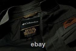 Rare! T.n.-o. Columbia Star Wars Rogue One Jyn Erso Rebel Veste Femme Taille Grande