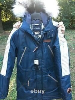 Rare! T.n.-o. Columbia Star Wars Rogue Un Capitaine Cassian Andor Rebel Parka Taille S