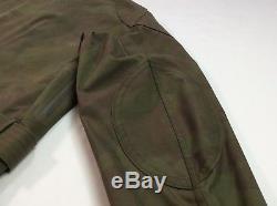 Rrl Double Rl Ralph Lauren Hommes Militaire USA Armée Veste De Pluie Ciré XL