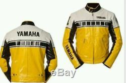 Rtx Yamaha Blouson De Moto En Cuir Pour La Protection Des Hommes Moto Vachette Racer