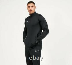 Survêtement Nike Pour Homme Zip Jacket Bottoms Black White Top Pants Academy Dri-fit L