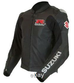 Suzuki Veste De Moto En Cuir Moto Biker Racing Veste Protection De L'armure
