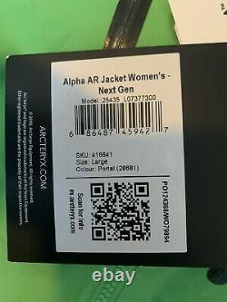 T.n.-o. Arc'teryx Alpha Ar Goretex Pro Veste Green Femmes Taille Grand 600 $