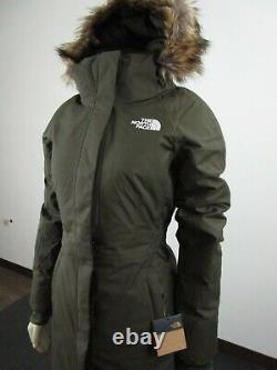 T.n.-o. Femmes La Face Nord Du Tnf Arctic Parka 2 Veste D'hiver Chaude En Bas Vert