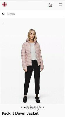 T.n.-o. Lululemon Pack It Down Jacket Rose Taupe-taille 6